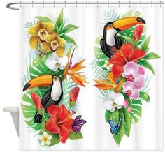 Etsy の Beachy Botiki Shower Curtain by BeachyBotikiShop