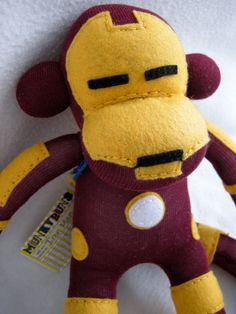 Iron Man Superhero Sock Monkey <3