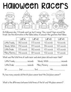 Halloween worksheets for 2nd grade--Free end punctuation