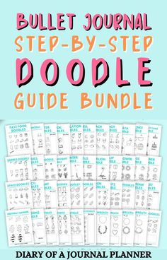 Make doodling simple with this ultimate doodle guide bundle! #bulletjournaldoodles #howtodraw #doodling Happy Doodles, Bujo Doodles, Cool Doodles, Simple Doodles, Easy Doodles Drawings, Easy Doodle Art, Doodle Ideas, Doodle For Beginners, Birthday Doodle