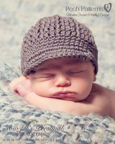 Crochet PATTERN - Newsboy Newsgirl Beanie Crochet Hat Pattern - Instant Download PDF 108 - Newborn to Adult - Photo Prop Pattern on Etsy, $3.99