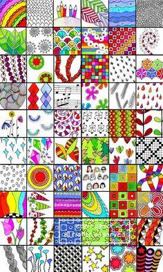 Special Listing for all 5 Sets by DrawDoodleDecorate on Etsy. #ZentangleDesign. #sampler