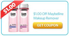 $1.00 Off Maybelline Makeup Remover