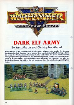 Dark Elf Army