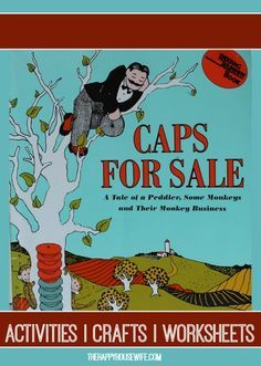 31 Days of Read-Alouds: Caps for Sale ~ This book is great for counting, colors, sorting, money, and of course learning about monkeys! | The Happy Housewife