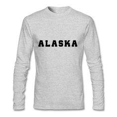 Casual Long Sleeve T Shirts Alaska College Tshirt Autumn Male Cheap Wholesale Alaska College T Shirts Tee