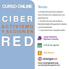 Ciberactivismo y acción en red. Curso online. Comienza el 2 de agosto.
