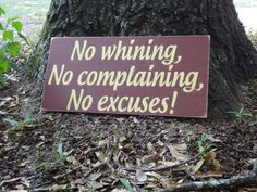 No Excuses Painted Sign by PurePaintedSigns on Etsy