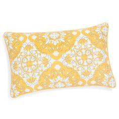 Housse de coussin en coton jaune 30 x 50 cm BELEM