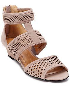 "Tahari ""Nina"" Leather Wedge Sandal"