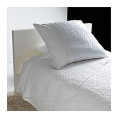 IKEA - ALINA, Bedspread and cushion cover, Twin/Full (Double), , Extra soft since the bedspread and cushion cover are quilted.The cushion cover is easy to remove since it has a concealed zipper.Packaging designed as a storage bag. Easy to protect, transport and store the product.