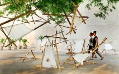 Cine Mandal is a symbolic installation representing constellation (Tara Mandal) where stars personified as cinema admirers gathered at film festival.