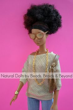 Natural doll, my future daughter will have a doll like this!! Natural is Beautiful!!!