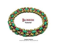 Tutorial Blossom Bangle beading pattern di FucsiaStyle su Etsy