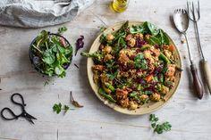 Turmeric Mushroom Salad With Beetroot And Sweet Potato