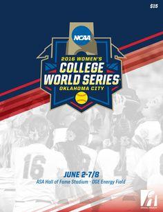 2016 NCAA Division I Softball Women's College World Series Program, held June 2-7/8 in Oklahoma City