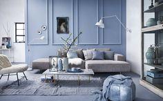 Woonkamer met pastelkleuren | Living room with pastel colours | Bron: vtwonen 05 2016 | Fotografie Alexander van Berge | Styling Cleo Scheulderman