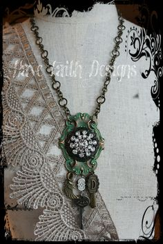 Ornate Initial necklace by HaveFaithDesigns on Etsy