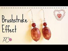 Brushstroke effect beads en.sub polymer clay tutorial (fimo tutorial) - YouTube
