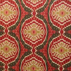 Duralee Suzani Ikat fabric - RED