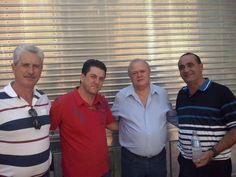 Clodoaldo, Anísio e Valério, orador da igreja Nossa Senhora Aparecida. — em São Manuel.