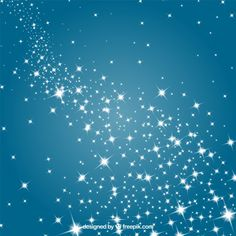 Stars in a blue sky Free Vector Star Farm, Lights Background, Vector Background, Falling Stars, Creative Posters, Merry Christmas, Clouds, Vector Freepik, Blue