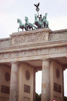 The Brandenburg Gate in Berlin. It is way more BEAUTIFUL in person. Even though I haven't been back since 09 I still remember it all!