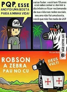 Robson a zebra pau no cu Best Memes Ever, Funny Memes, Jokes, Zebras, Kawaii, Heine, Funny Comics, Funny Photos, Haha