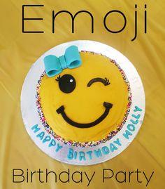 Emoji Birthday Party with an Emoji Cake!