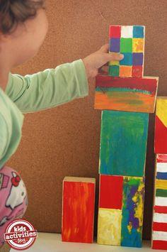 Make Colorful Wooden Blocks - Kids Activities Blog