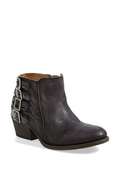 Free shipping and returns on H by Hudson 'Encke' Bootie (Online Only) (Women) at Nordstrom.com. Stacked patent buckles accent the soft, weathered shaft of an essential bootie styled with a stacked Cuban heel. You can feel the quality in the well-cushioned footbed and sumptuously soft materials.