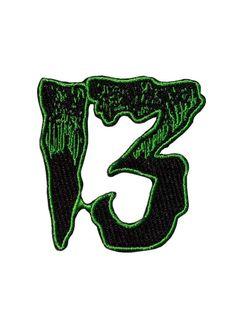 28 GREEN Bad Kitty Cross bones iron on patch rockabilly punk girl