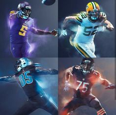 NFL: NFC North 2016 Color Rush Uniforms