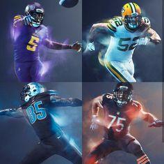 e50af6fec NFL  NFC North 2016 Color Rush Uniforms Football Uniforms