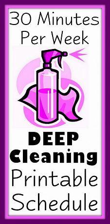 30 min per week deep cleaning schedule