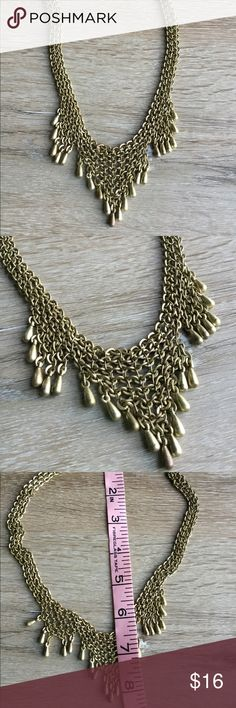 Banana Republic necklace Brass or gold finish chain mail style necklace. No defects. Banana Republic Jewelry Necklaces
