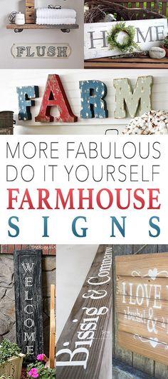 MORE Fabulous DIY Farmhouse Signs
