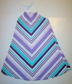 Gap Kids Chevron Striped Purple Sleeveless Halter Summer Sun Dress Girls L 10 #GapKids #Everyday