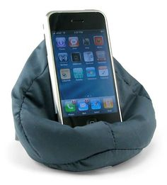 ThinkGeek :: Beanbag Cellphone Chair Great resting place for your #iPhone! Such a funny idea!