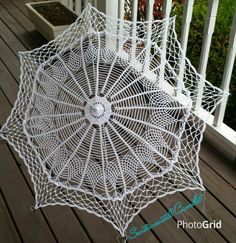 Hey, I found this really awesome Etsy listing at https://www.etsy.com/il-en/listing/293468147/white-crochet-umbrella-wedding-prop