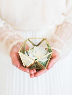 Wedding ring box Glass ring box for Wedding Ring bearer box Ring