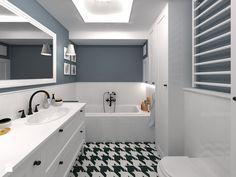 Mała łazienka z mnóstwem miejsca do przechowywania Łazienka - zdjęcie od CHATANOWA