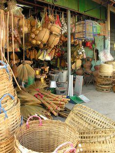 Shopping in Savannakhet, Southern Laos by travelfishery, via Flickr