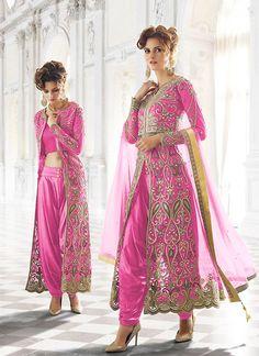 #Rose #Pink #Net #Achkan #Dhoti #Style #Salwar #Kameez #nikvik  #usa #designer #australia #canada #freeshipping #dhotistyle #offer