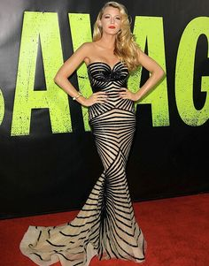 "Blake Lively in Zuhair Murad at the ""Savages"" L.A premiere"