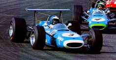 (3) Jean-Pierre Beltoise - Matra MS7 Cosworth FVA - Matra Sports - (4) Henri Pescarolo - Matra MS7 Cosworth FVA - Matra Sports - (21) Richard Attwood - Tecno 68 Cosworth FVA - Ron Harris Racing Division - XVI Grote Prijs van Zandvoort - 1968 European Trophy for F2 Drivers, Round 6