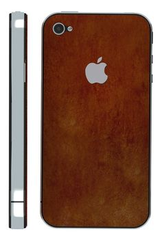 iPhone Skin - Distressed Brown Leather