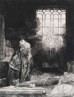Rembrandt Harmenszoon van Rijn, Sogenannter Faust [Allegedly Faust], c. 1651‑1653