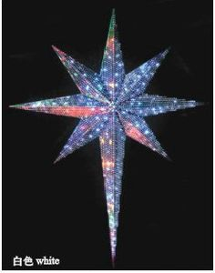7 lighted 8 point clear mosaic star christmas tree topper clear christmas at winterland wl 5str 04 pw pure white stars 4 foot pure aloadofball Image collections