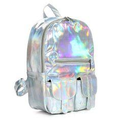Hologram Laser Harajuku Preppy Style Backpack Online - NewChic